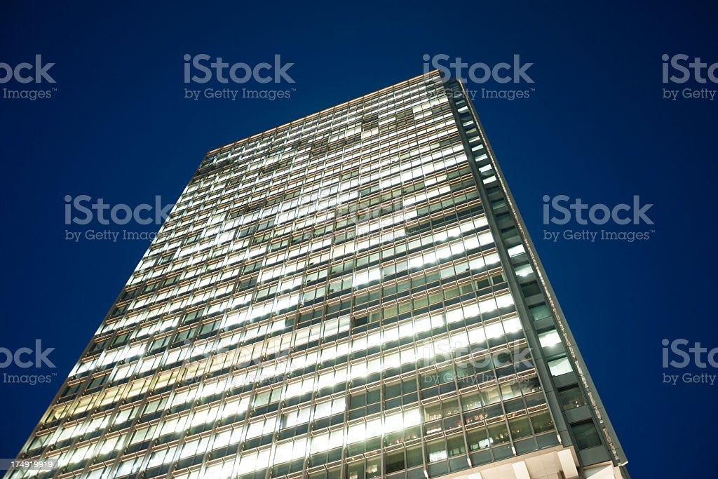 Marunouchi building at night royalty-free stock photo