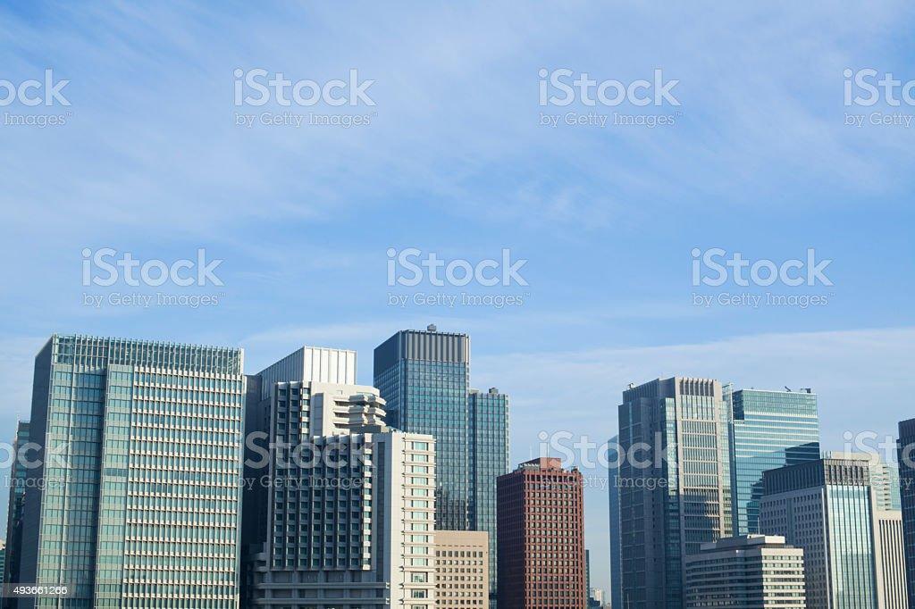 Marunouchi Business District in Tokyo, Japan. stock photo