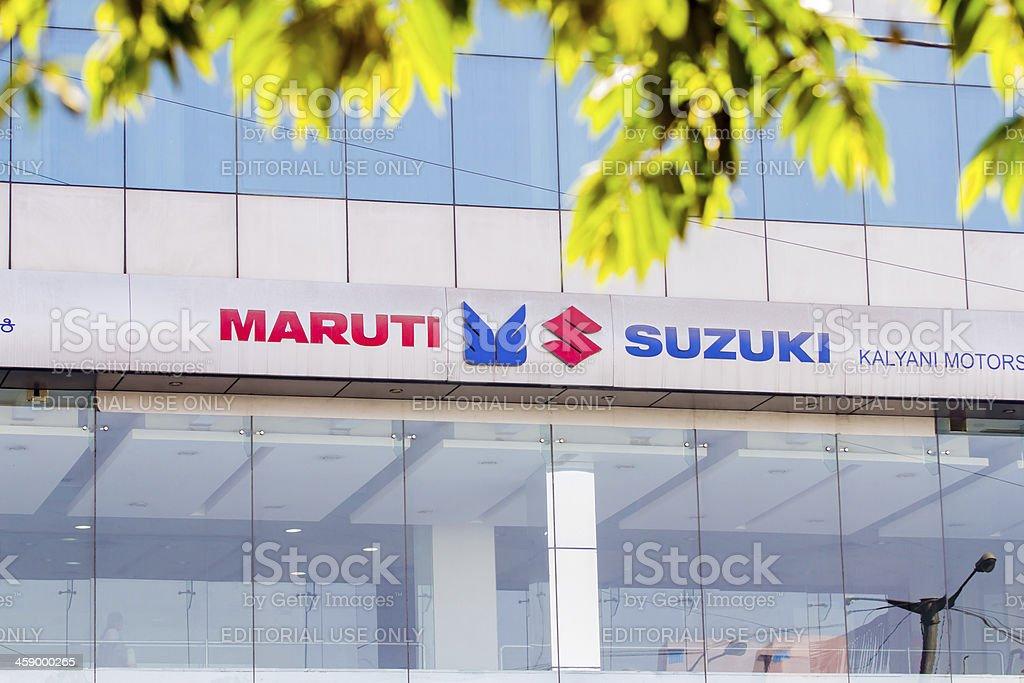 Maruti Suzuki company signage royalty-free stock photo