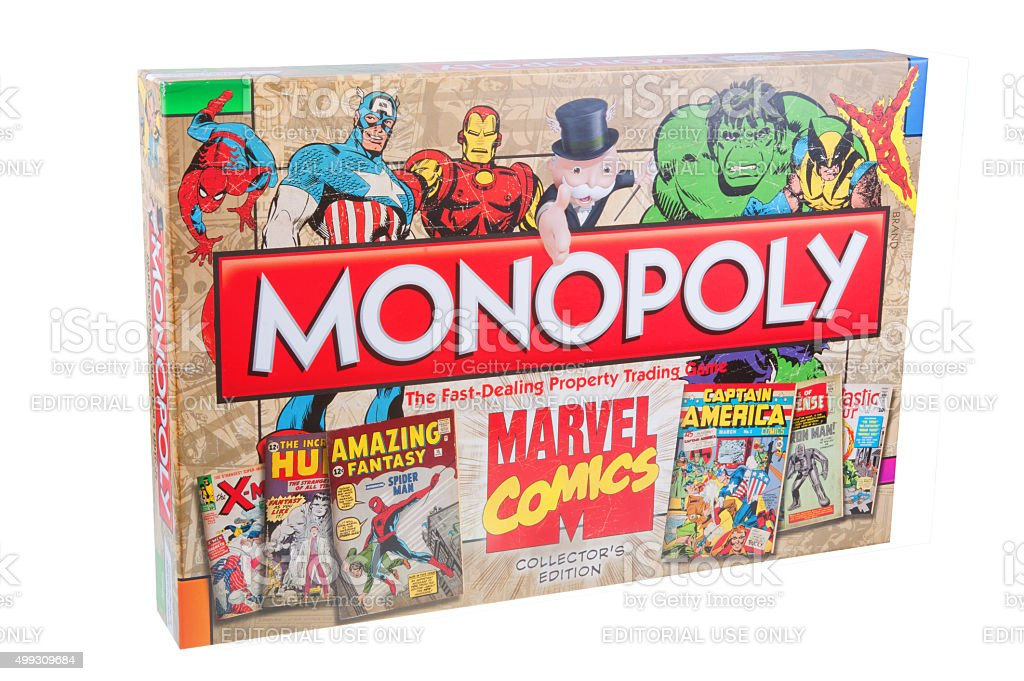 Marvel Comics Monopoly stock photo