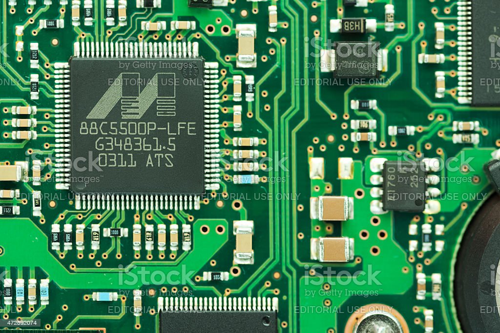 Marvell brand IC on PCB stock photo