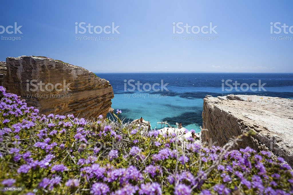 Marvellous beach in the Mediterranean sea royalty-free stock photo