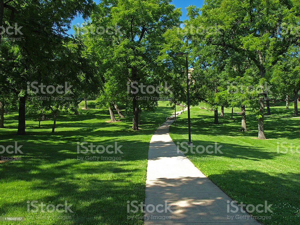 Marvin Grove path royalty-free stock photo