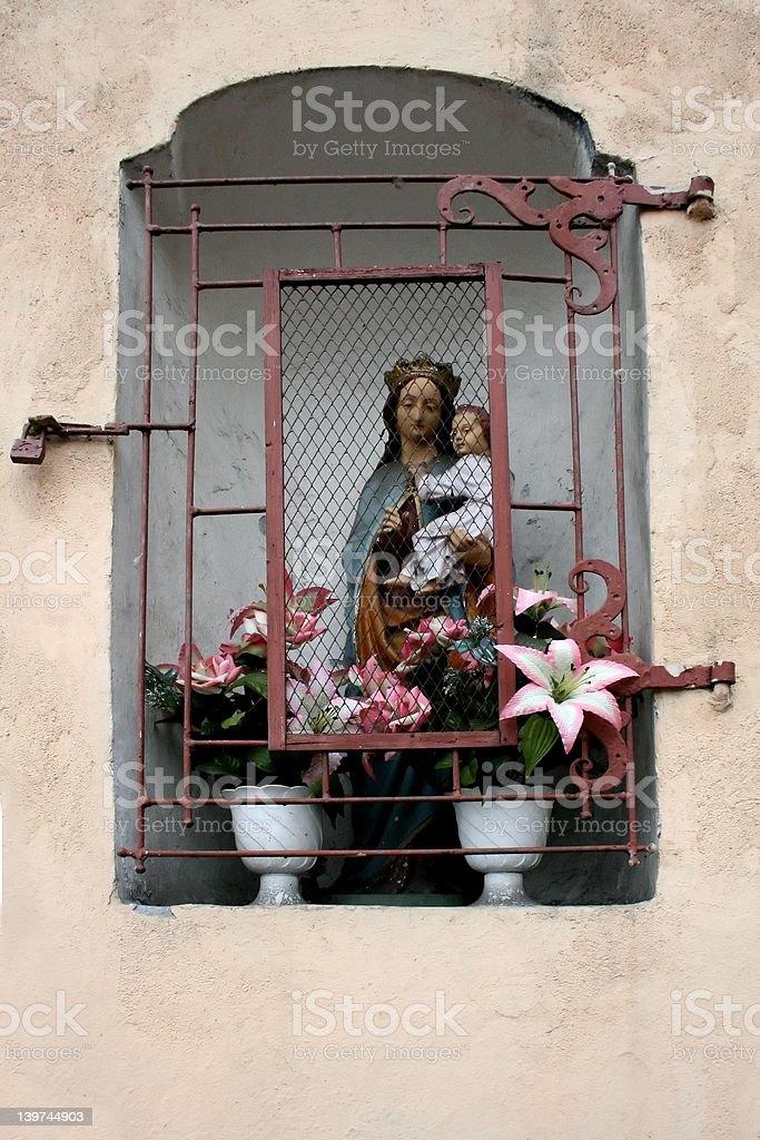 Mary and Baby locked royalty-free stock photo
