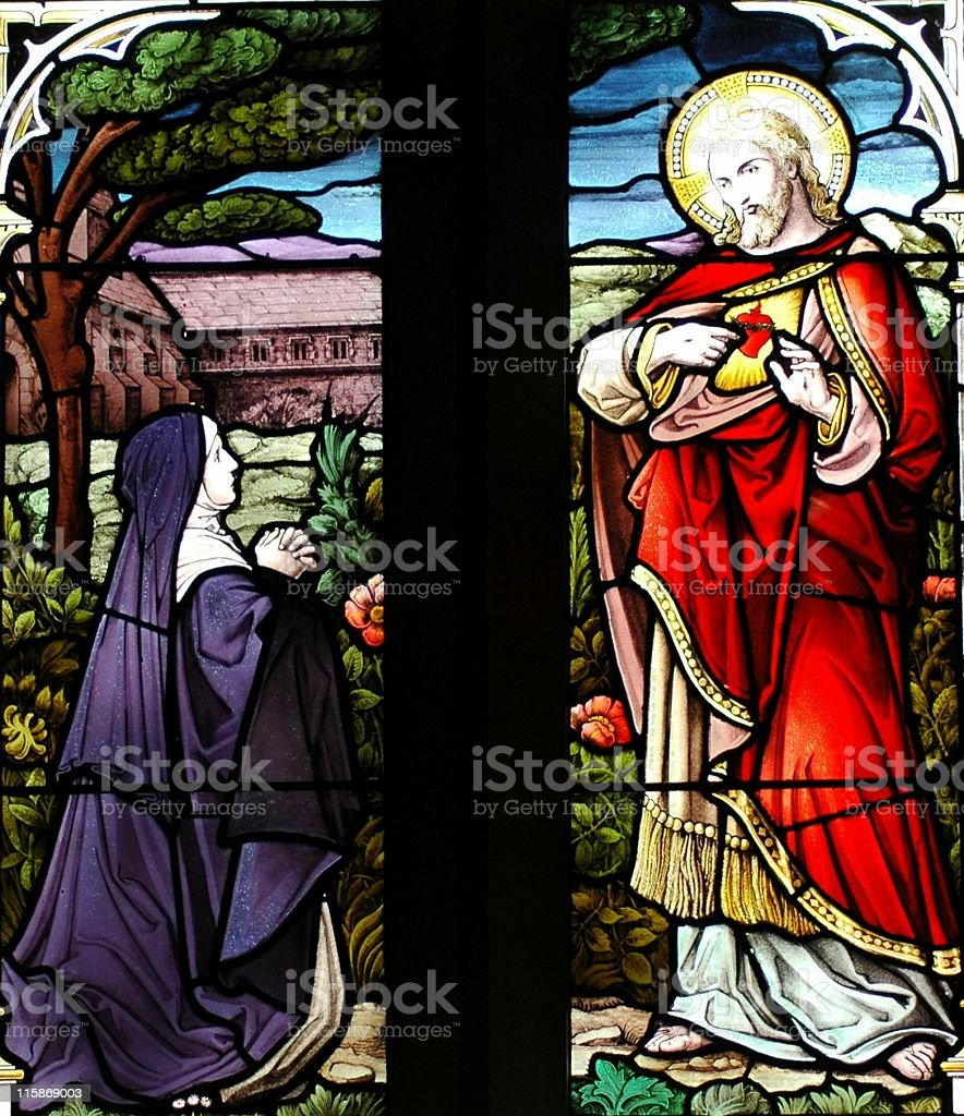 Mary and Jesus royalty-free stock photo