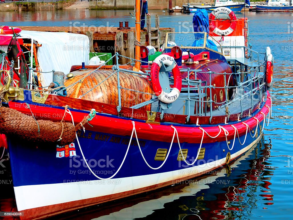 Mary Ann Hepworth, Lifeboat. stock photo