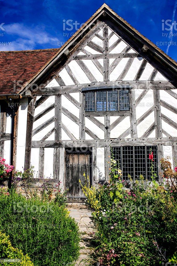 Mary Arden's farmhouse in Wilmcote near Stratford-upon-Avon, UK stock photo