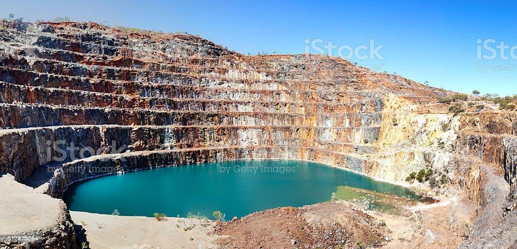 Mary Kathleen mine near Mount Isa stock photo