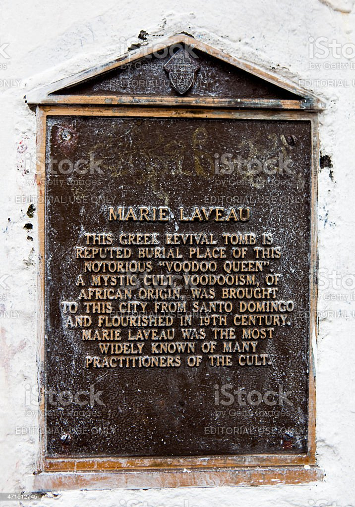 Mary Laveau's Grave in St Louis Cemetery #1 stock photo