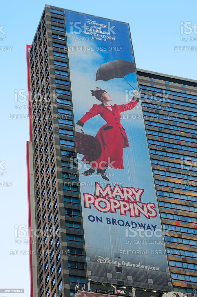 Mary Poppins on Broadway stock photo
