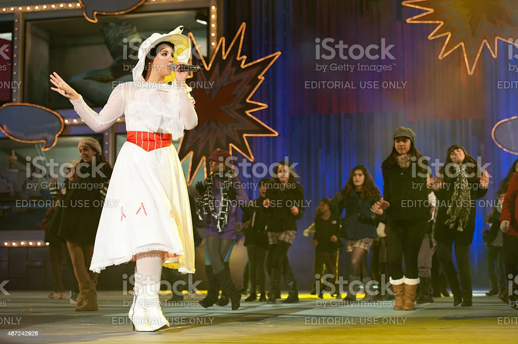 Mary Poppins onstage stock photo