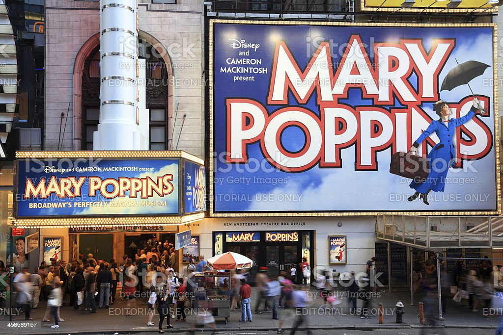 Mary Poppins, Times Square, New York City stock photo