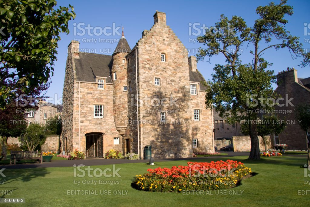 Jedburgh, Roxburghshire, Scottish Borders, Scotland - September 15, 2009: Mary Queen of Scots House stock photo