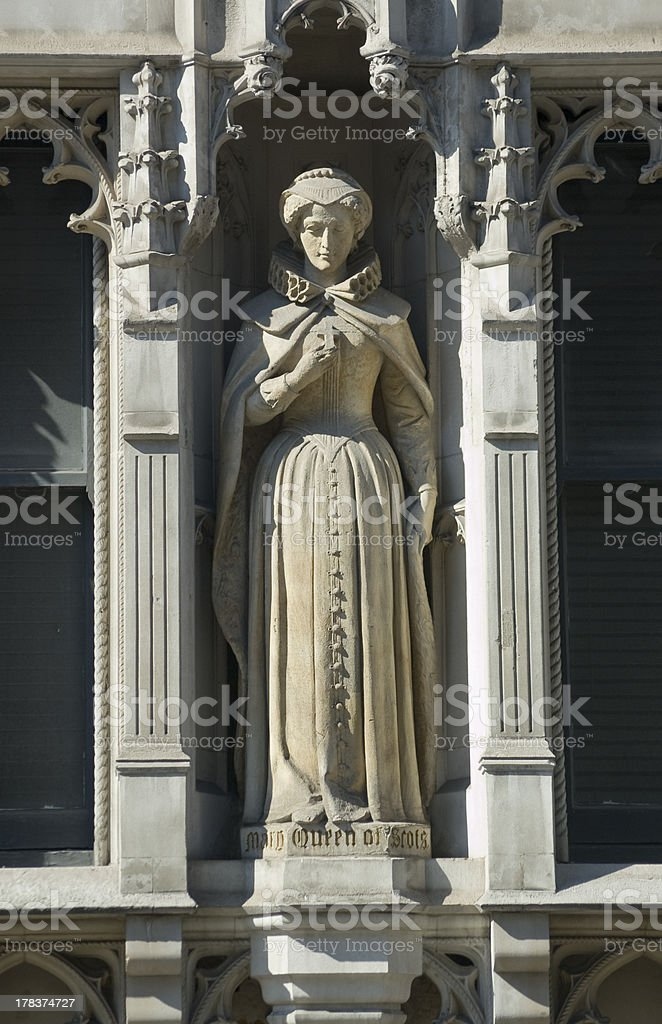 Mary, Queen of Scots Statue, London stock photo