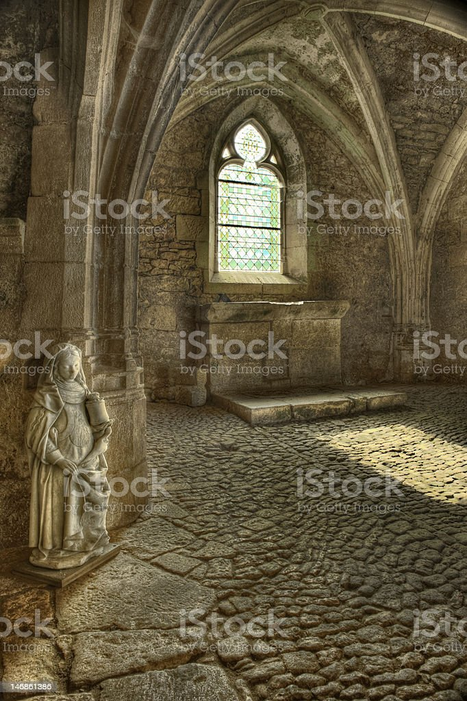 Mary statue in church royalty-free stock photo
