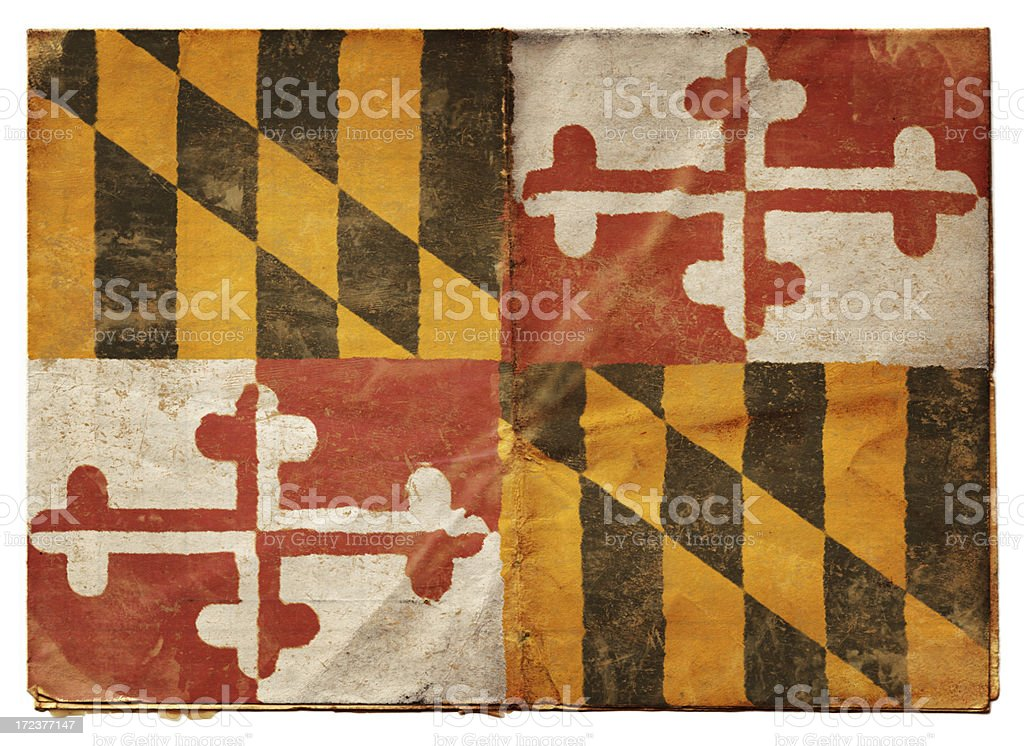 Maryland flag (XXL) royalty-free stock photo