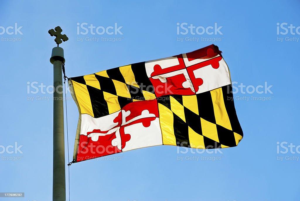 Maryland Flag royalty-free stock photo