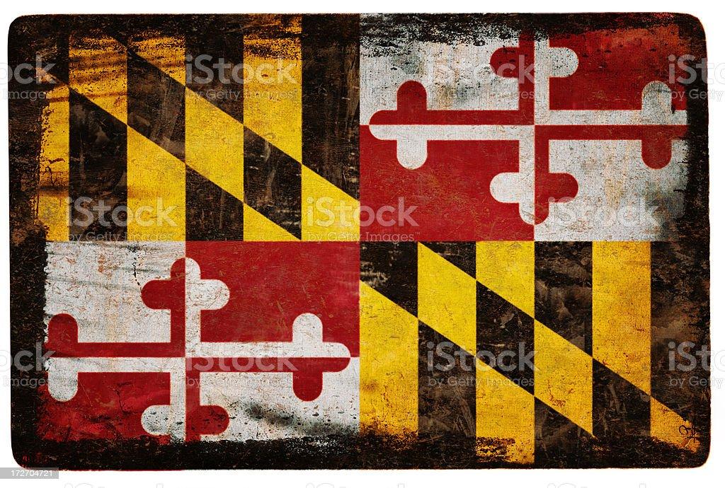 Maryland Flag XXL royalty-free stock photo