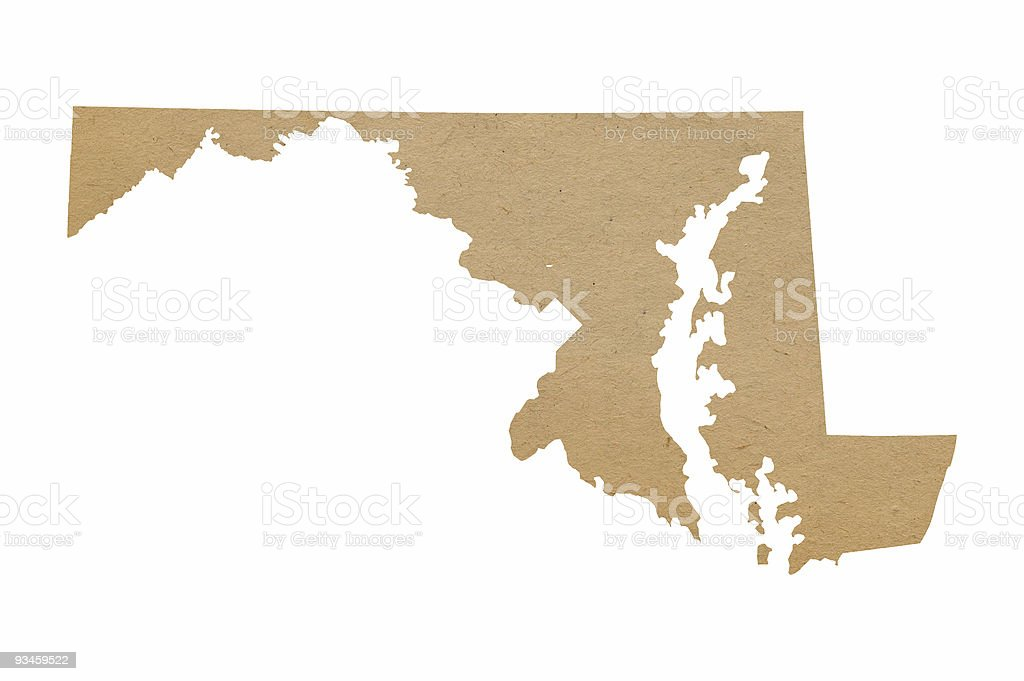 Maryland Recycles royalty-free stock photo