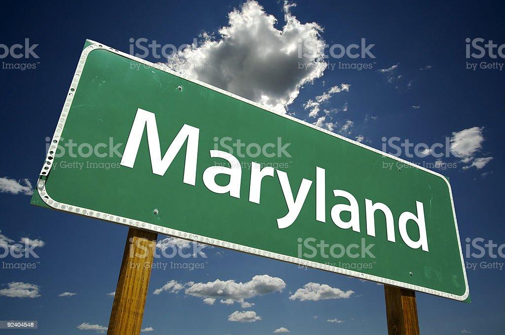 Maryland Road Sign stock photo