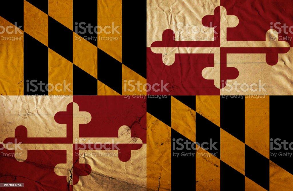 Maryland State grunge flag stock photo