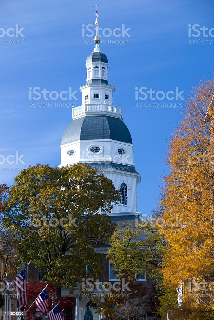 Maryland State House is the Capitol in Annapolis royalty-free stock photo