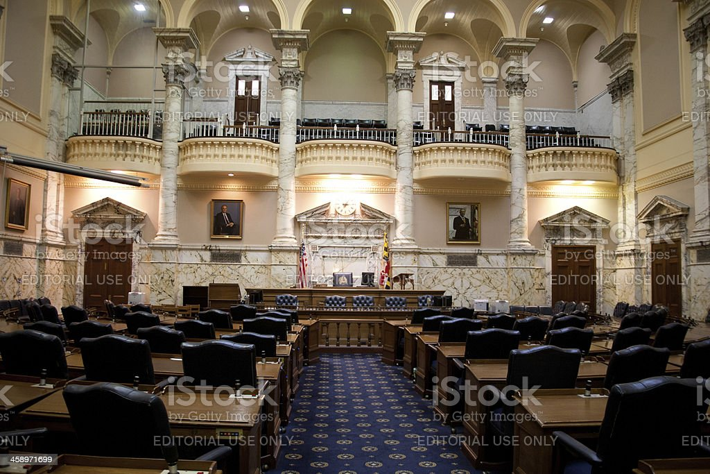 Maryland State House Senate Chambers stock photo