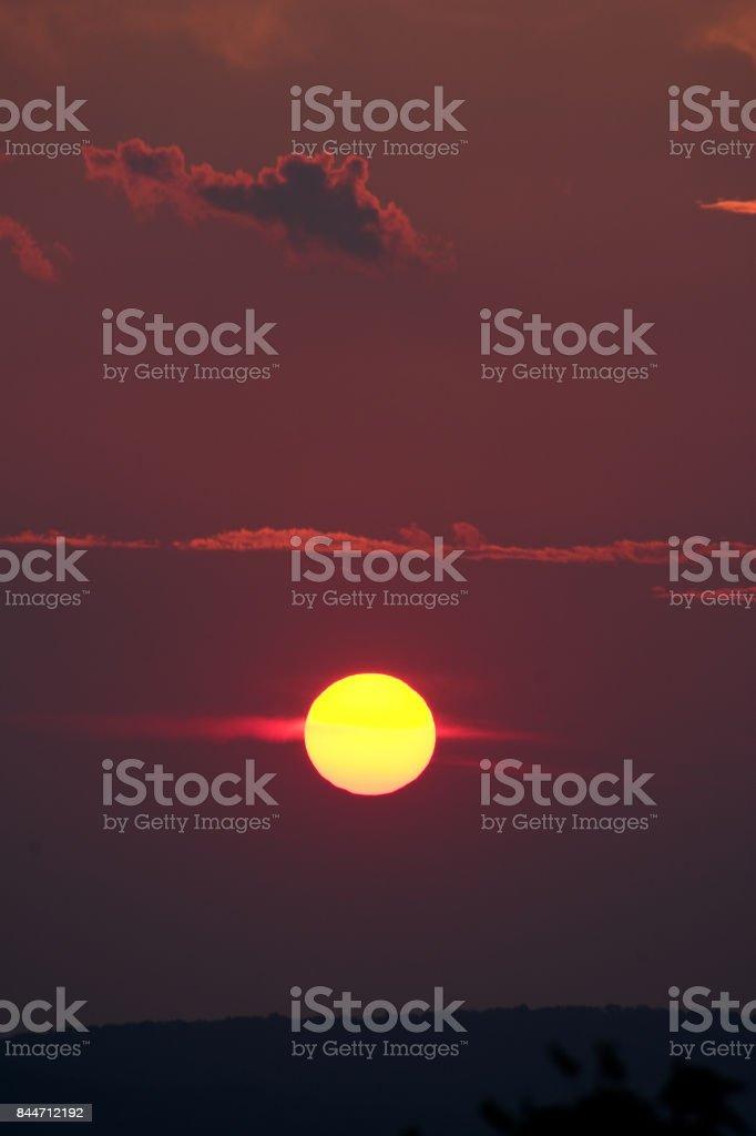 Maryland Sunset stock photo