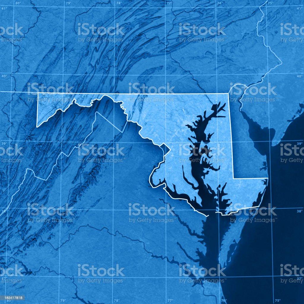Maryland Topographic Map stock photo