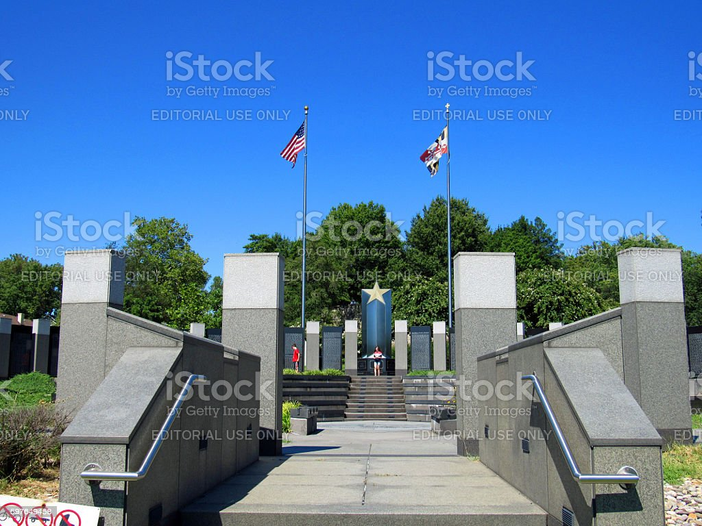 Maryland World War II Memorial, Annapolis, Maryland, USA stock photo