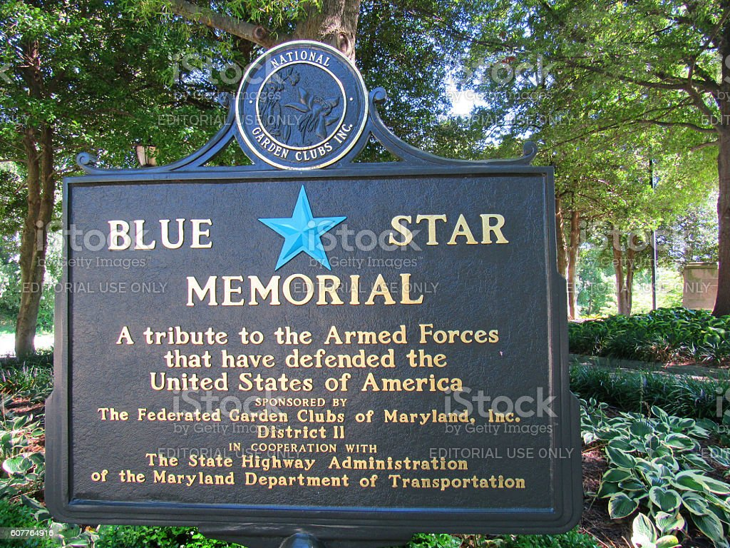 Maryland World War II Memorial, Annapolis, Maryland, USA stock photo