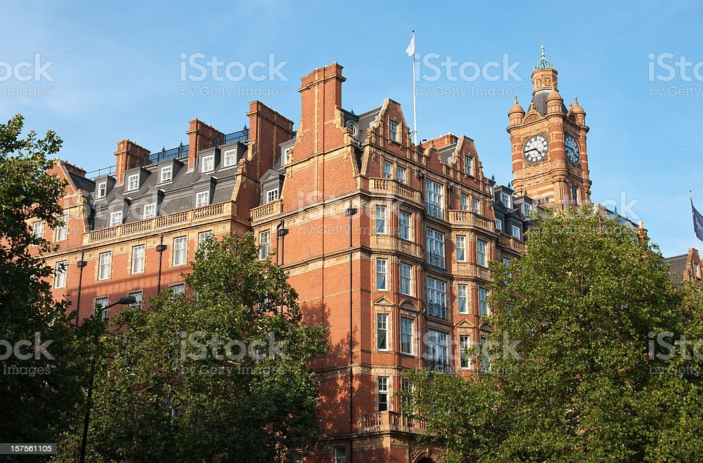 Marylebone red houses stock photo