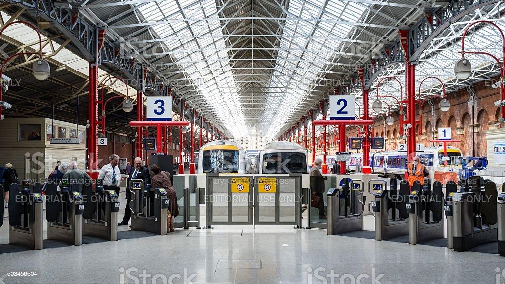 Marylebone train station, London stock photo
