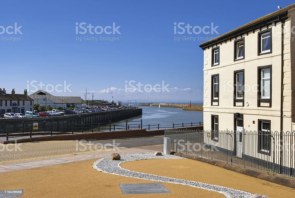 Maryport Harbour, Cumbria, England stock photo