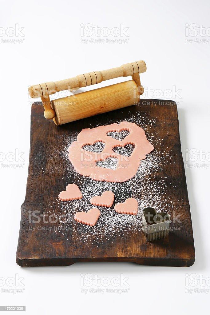 marzipan hearts and cutouts royalty-free stock photo