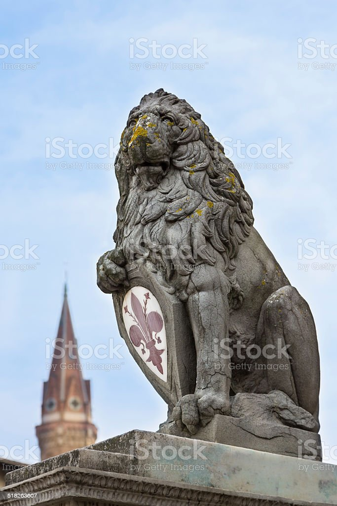 Marzocco Heraldic lion - The Florentine lion stock photo