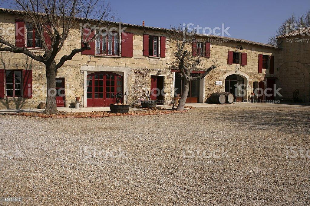Mas (wine farmhouse) in rural France stock photo