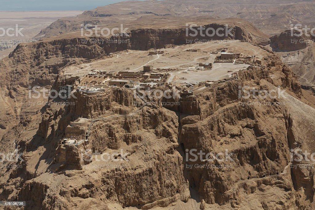 Masada aerial view stock photo
