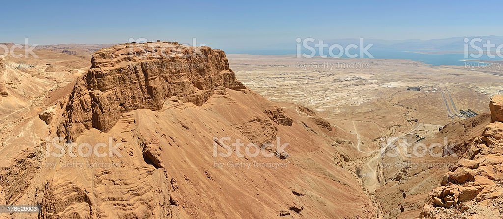 Masada gorge panorama. royalty-free stock photo