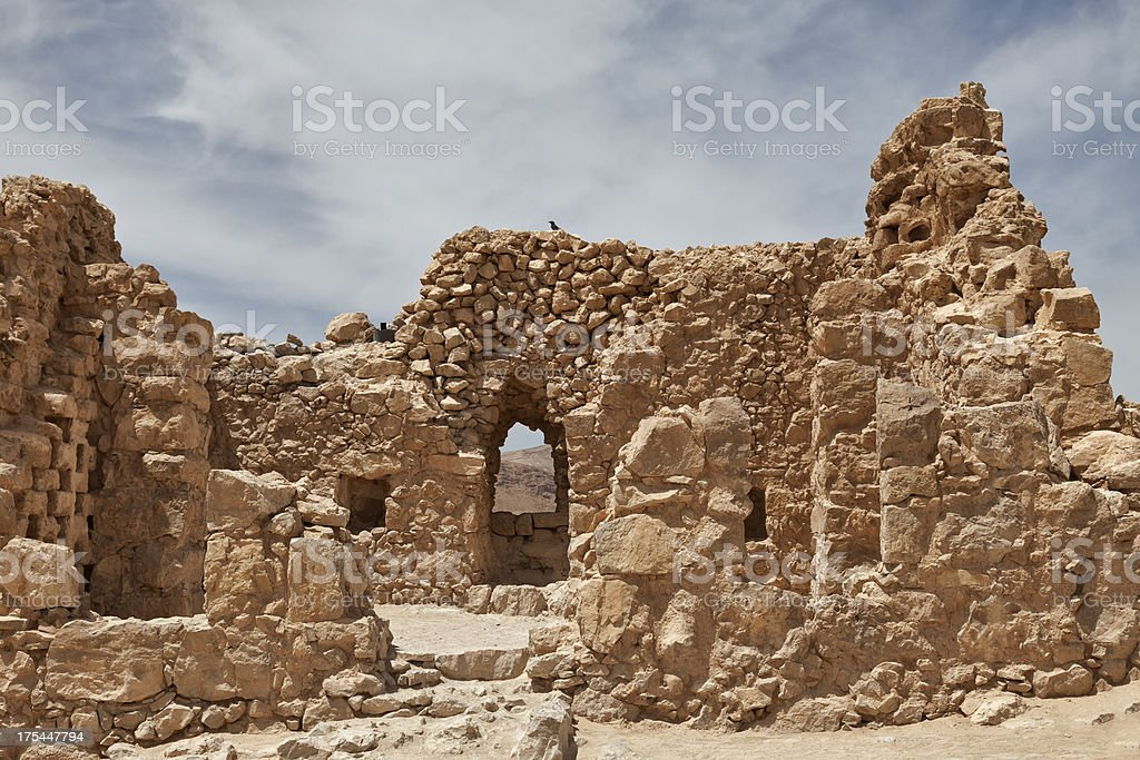 Masada in Israel stock photo