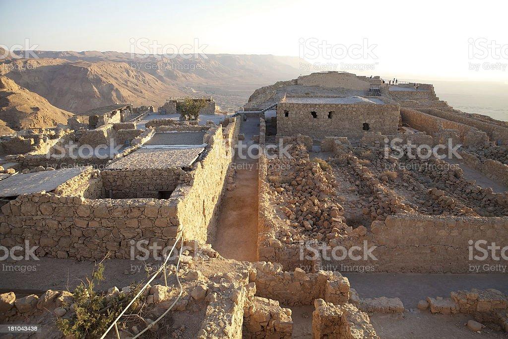 Masada Israel stock photo