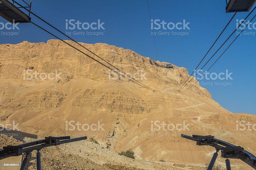 Masada Mountain in Israel stock photo