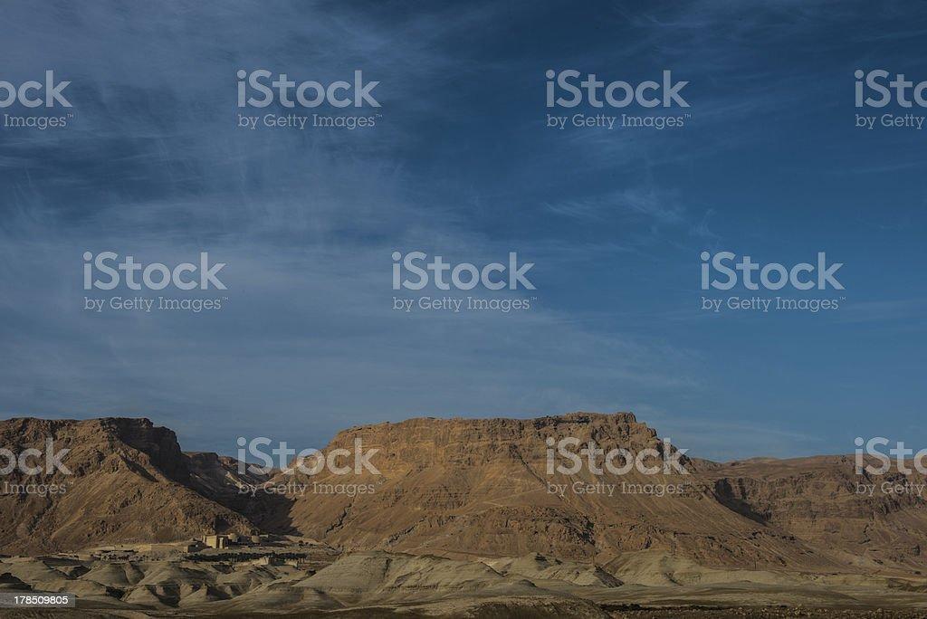 masada mountain, israel stock photo