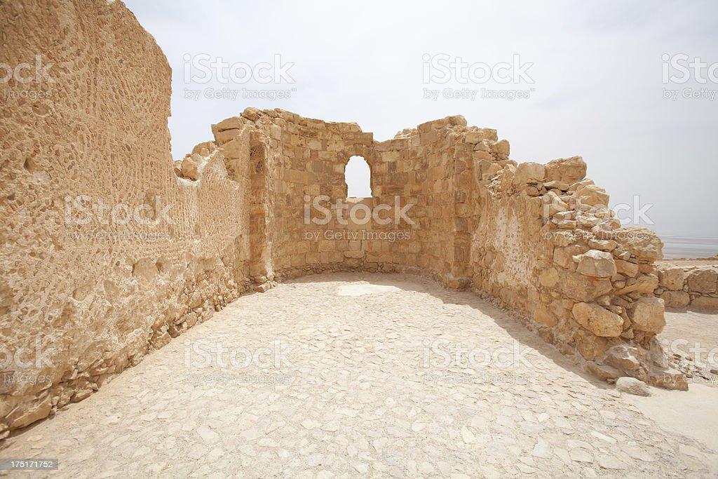 Masada National park in Judean desert, Israel stock photo