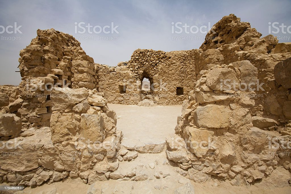 Masada National park in Judean desert, Israel stock photo