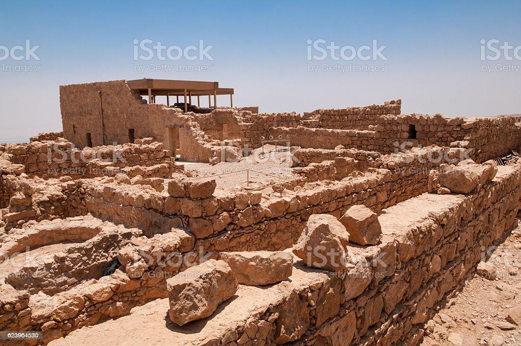 Masada Ruins stock photo