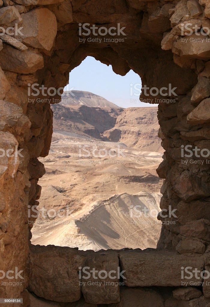Masada - Window to the Desert stock photo