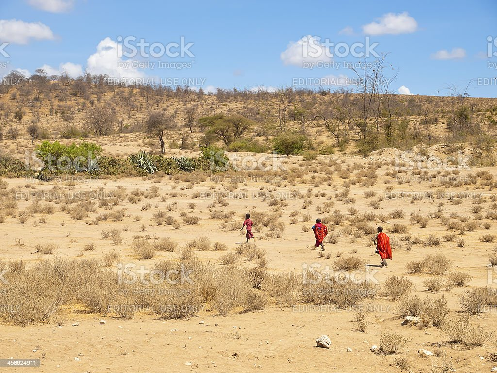 Masai children royalty-free stock photo