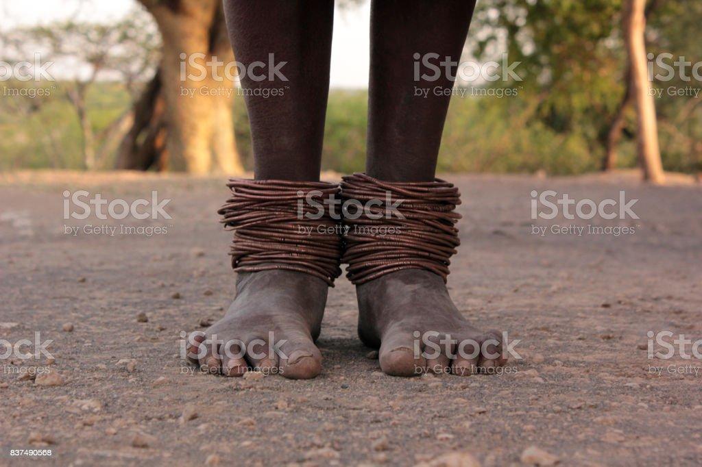 masai feet stock photo