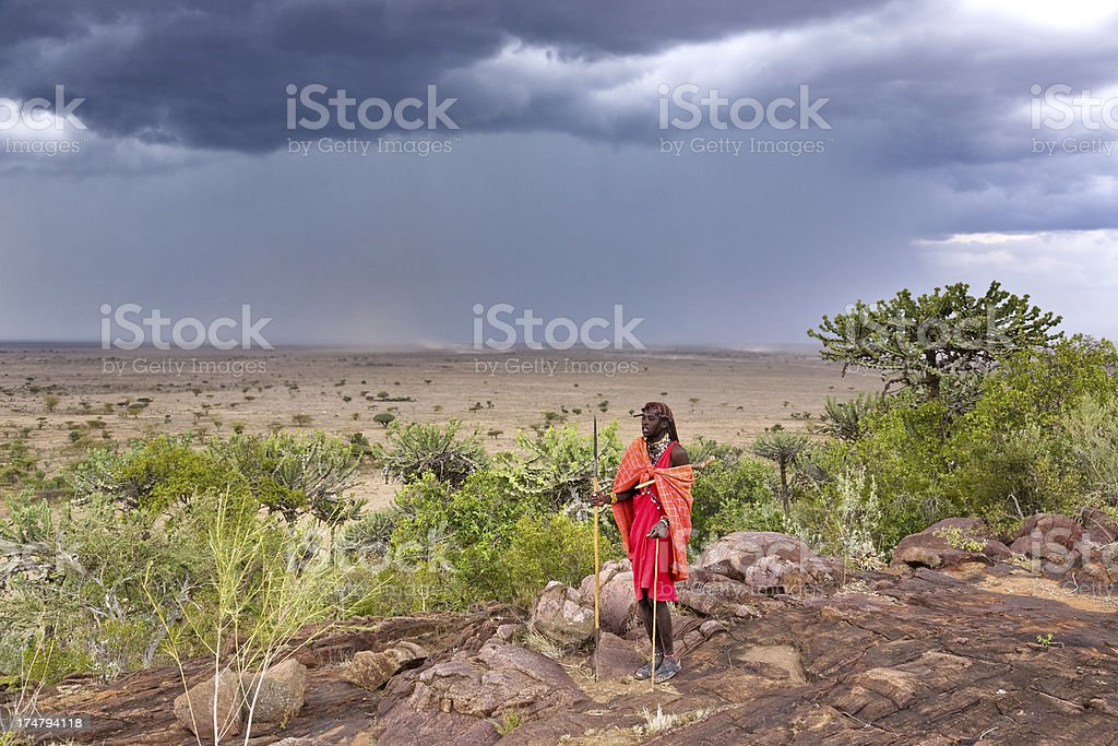 Masai man royalty-free stock photo
